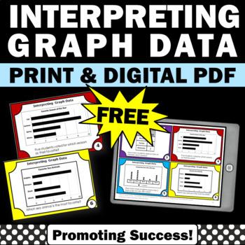 FREE Interpreting Graphs Third Grade, Interpreting Graphs Activities, Task Cards