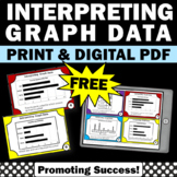 FREE Interpreting Graphs Task Cards, 3rd Grade Math Review Game SCOOT