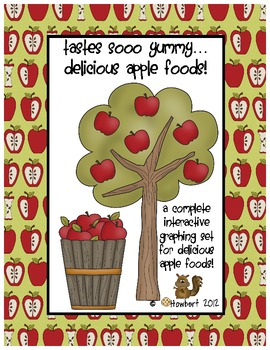 Graphing:  Fall & Apples, A Delicious Foods Graphing Set for Fall!