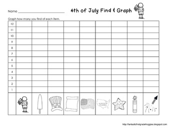 Graphing: Find, Tally and Graph- 4th of July