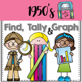 Graphing: Find, Tally and Graph- 50th day of school (Fifties)