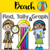 Graphing: Find, Tally and Graph- Beach and Summer