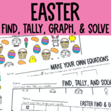 Graphing: Find, Tally and Graph- Bunnies, Beans and Eggs (Easter)
