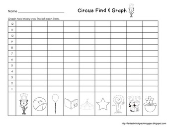 Graphing: Find, Tally and Graph- Circus