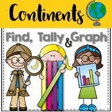 Graphing: Find, Tally and Graph- Continents (maps)