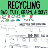 Graphing: Find, Tally and Graph- Recycling, Earth Day
