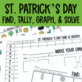 Graphing: Find, Tally and Graph- St. Patrick's Day