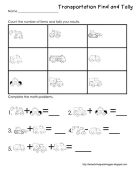 Graphing: Find, Tally and Graph- Transportation