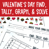 Graphing: Find, Tally and Graph- Valentine's Day