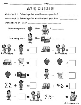 Graphing - Find it, Tally & Graph! - Back to School!