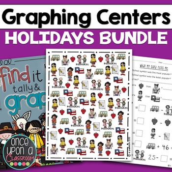 Graphing Centers Bundle - Holidays