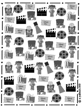 Graphing - Find it, Tally & Graph! - Movie FREEBIE!