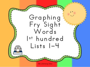 Graphing Fry Sight Words 1st Hundred