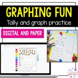 First grade graphing practice with tally and graphing!