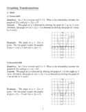 Graphing Function Transformation