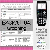 Graphing Functions - Calculator Reference Sheets | TI-84