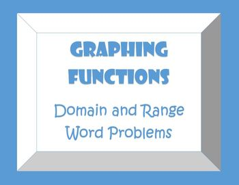 Domain And Range Word Problems Worksheets & Teaching ...