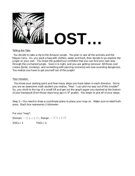 Graphing Functions Project - Lost in the Jungle