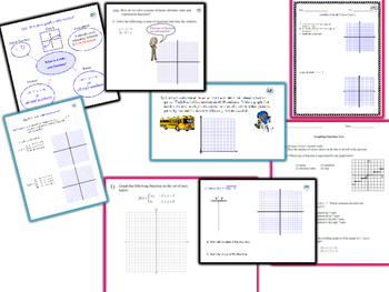Graphing Functions Unit Bundle