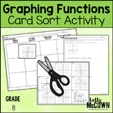 Graphing Functions with Tables, Graphs, and Equations Card Sort