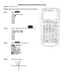 Graphing Functions with a TI-83/84 Calculator Reference Guide
