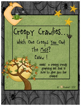 Graphing: Halloween Creepy Crawlies! A Graph Set That Is Creepy!