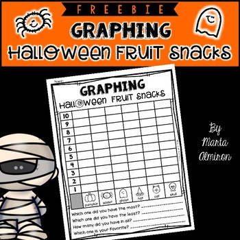 Graphing Hallowing Fruit Snacks - FREEBIE!