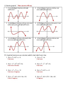 Graphing Higher Degree Polynomial Functions