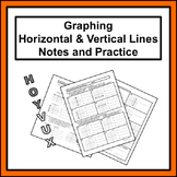 Graphing Horizontal & Vertical Lines Notes and Practice (HOYVUX)