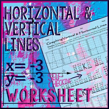 Graphing Horizontal & Vertical Lines Winter-themed Worksheet