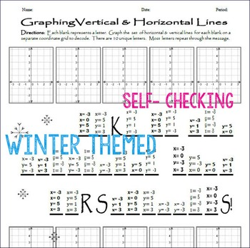 graphing horizontal and vertical lines worksheet kidz activities. Black Bedroom Furniture Sets. Home Design Ideas