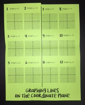Graphing Horizontal & Vertical Lines on the Coordinate Plane (Foldable)