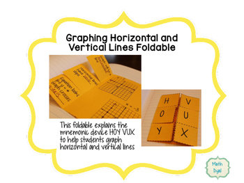 Graphing Horizontal and Vertical Lines Foldable