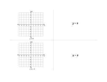 Graphing Horizontal and Vertical Lines (Graphic Organizer)
