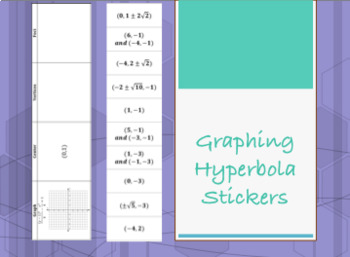 Graphing Hyperbola Stickers