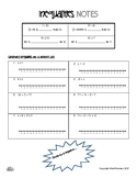 Graphing Inequalities Guided Notes