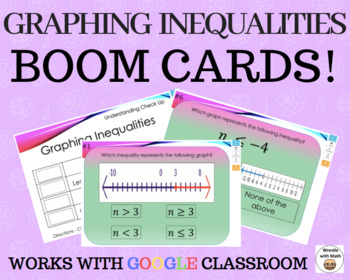 Graphing Inequalities  – Boom Cards – Works with GOOGLE CLASSROOM