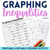 Graphing Inequalities Coloring Worksheet - Editable