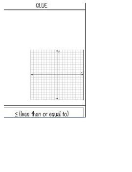 Graphing Inequalities Flip Book