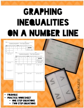 Graphing Inequalities on a Number Line Foldable and Worksheet