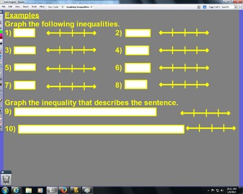 Graphing Inequalities Lesson