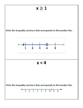 Graphing Inequalities Number Line (Scavenger Hunt)