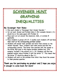 Graphing Inequalities: Scavenger Hunt