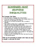 Graphing Inequalities: Scavenger Hunt