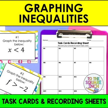 Graphing Inequalities Task Cards