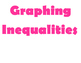 Graphing Inequalities Word Wall