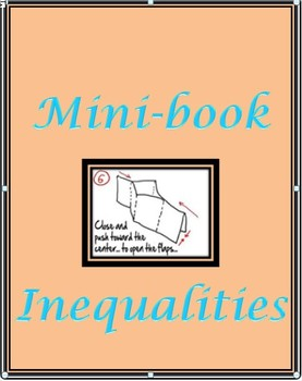 Graphing Inequalities easy foldable Minibook