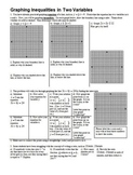 Graphing Inequalities in Two Variables - Linear Inequalities - with Answer Key