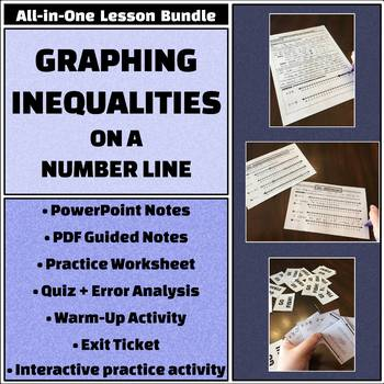 graphing inequalities on number lines all in one bundle activities and more - Graphing Inequalities On A Number Line Worksheet