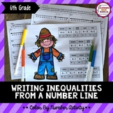 Writing Inequalities From a Number Line Color By Number Activity